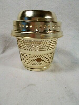 New-Old Stock Brass Aladdin style Burner Base and Gallery to Electrify