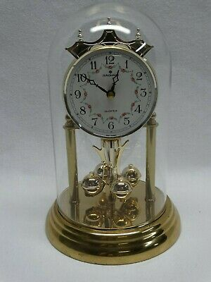 Vintage Junghans Made in Germany Glass Domed Anniversary Mantle Clock