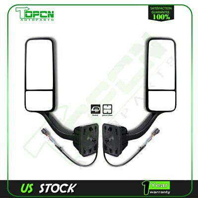 Power Heated Truck Hood Mirrors For Freightliner Cascadia 08-16 LH+RH Side 1Pair