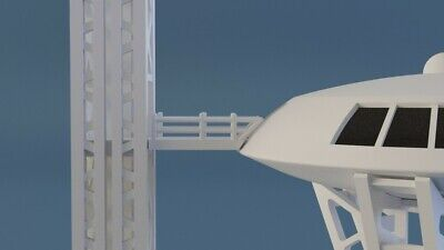 LOST IN SPACE JUPITER 2 LAUNCH PAD, GANTRY, SCAFFOLD Set 3D printed No Jupiter 2