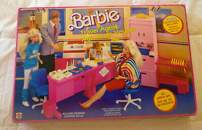 Vintage 1986 Mattel Barbie  Travel agency in original box contents mint