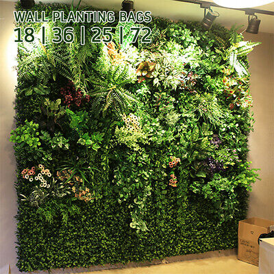 18/25/36/72Pocket Planting Bag Hanging Wall Vertical Planter Hanging Flower Herb