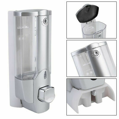 UK Wall Mounted Liquid Soap Dispenser Bathroom Hand Sanitizer Shower Gel Shampoo