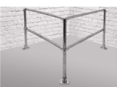 Safety Corner Barrier Kit for Workshops, Machinery etc.. - Kee Key Clamp Rail