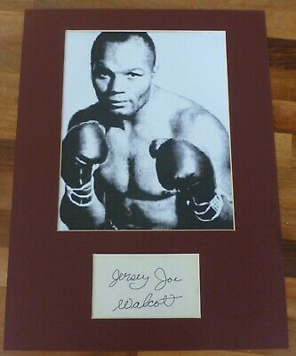 JERSEY WALCOTT-Hand Signed Card is Presented With A Photo-Mounted & Matted,COA