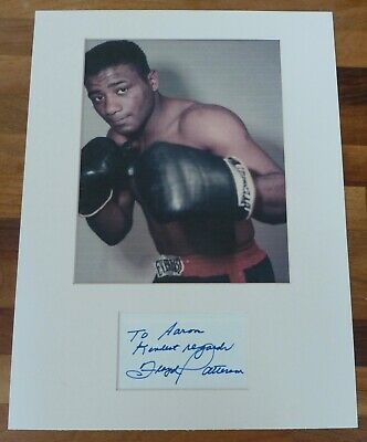 FLOYD PATTERSONHand Signed Card is Presented With A Photo-Mounted & Matted,COA