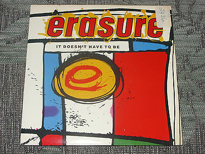 """Erasure: It doesn't have to be      7""""  MINT UNPLAYED VINYL"""