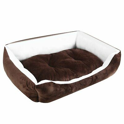 Pet Dog Cat Bed Puppy Cushion House Soft Warm Mat Blanket Washable Kitten Brown