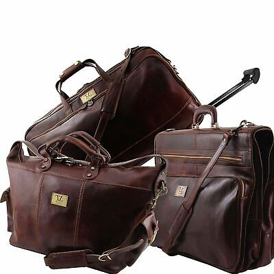 Luxurious - Travel Leather Bag Set For Very Advanced Travelers Made In Italy