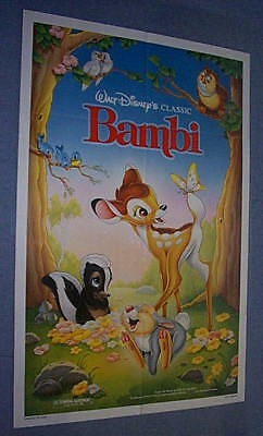original Huge Disney BAMBI 46 X 72 Standee In original package unused