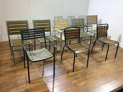 Job Lot 13 Heavy Duty Indoor Outdoor Chairs Cafe Garden Patio