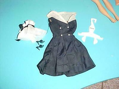 Vintage 1960's Barbie Doll Outfit *AFTER FIVE* Complete Party Dress Hat Shoes