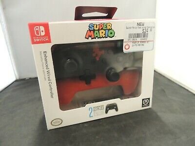 PowerA 1513568-01 enhanced Wired SUPER Mario Controller Nintendo MARIO FADE *NEW