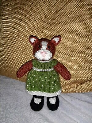 Hand Knitted Ginger Cat