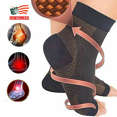 Copper Compression Infused Magnetic Foot Support Relief Brace Foot Sleeve Socks
