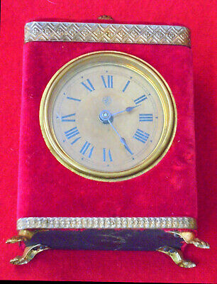 American Jerome Plush Clock With Signed Dial
