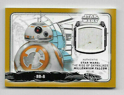2019 Topps Star Wars Rise of Skywalker BB-8 MILLENNIUM FALCON GOLD Relic #5/5!