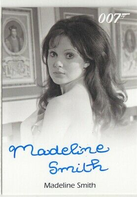 James Bond Archives 2015 - Madeline Smith (Miss Caruso) Autograph Card Fb L