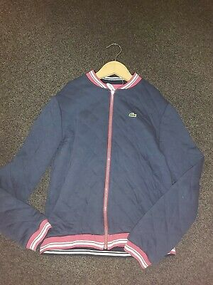 Lacoste Genuine Boys Dark Blue Slightly Quilted Jacket Age 10 Years Great Cond