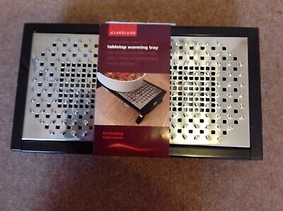 Lakeland Tabletop Food Warming Tray With Stainless Steel Plates Bnwt