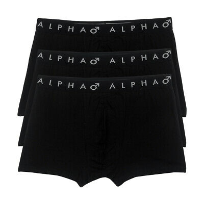 Alpha Mens 3 Pack Classic Fit Trunks