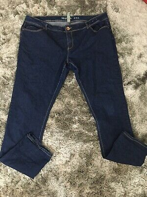 Denim.co Primark Ladies Blue Push Up Skinny Jeans Size 18 Good Condition
