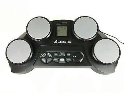 Alesis Compact Kit 4 Portable Tabletop Electronic Drum Kit Tested W/ AC Adapter