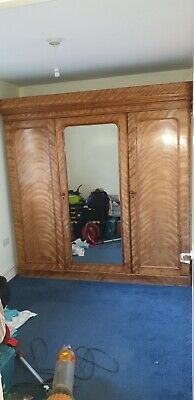 Antique satinwood triple wardrode