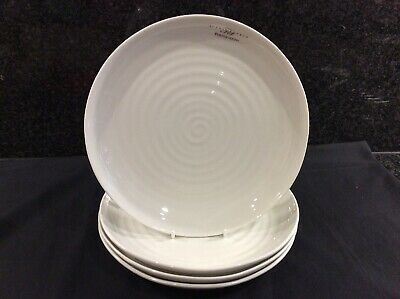 """Sophie Conran Portmeirion 4 X Coupe 8.5"""" Coupe Buffet  Plates White New"""