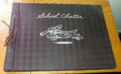 C R Gibson & Co. Journal Scrapbook School Chatter 10 x 7.5 x 1 1937 copyright
