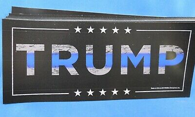 WHOLESALE LOT OF 10 TRUMP 2020 BLUE LINE SUPPORT LAW ENFORCEMENT STICKERS Police