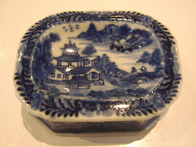 VERY RARE INTERESTING 1700S ANTIQUE CHINESE BLUE WHITE BOWL CHIEN LUNG willow