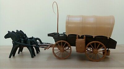 B8146 PLAYMOBIL Cheval Beige Clair pour Attelage Diligence Chariot WESTERN