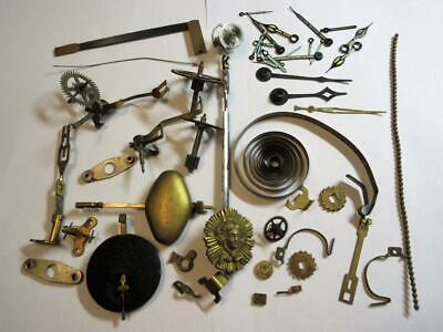 JOB LOT of VARIOUS ANTIQUE CLOCK PARTS FOR THE CLOCKMAKER - Pendulums, Hands ect