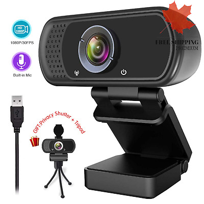 1080P Webcam Live Streaming Web Camera with Stereo Microphone Desktop or Lapt...