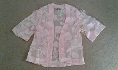 Next girls sheer pink jacket/cover age 8 year