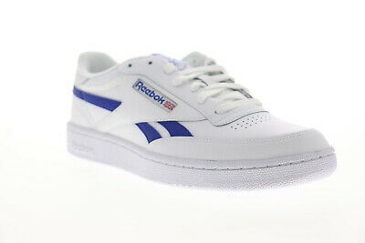 Reebok Club C Revenge EG7936 Mens White Leather Lace Up Low Top Sneakers Shoes