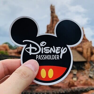 Disney Annual Passholder Magnet Mickey Mouse Ears 4 x 3.25""