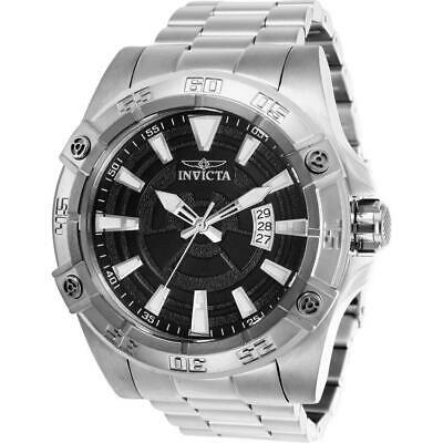 Invicta Pro Diver 27016 Men's 52mm Silver Tone Automatic Watch with Black Dial