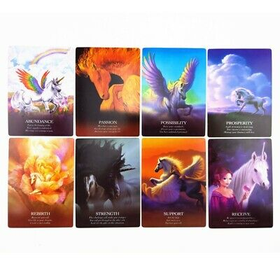 Unicorn Oracle Cards Deck Mysterious Tarot Cards Divination Fate Board Gam Hot
