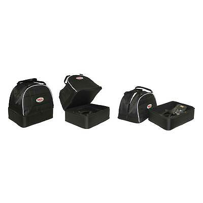Genuine Bell Helmet & Hans Bag In Black Separate Compartments