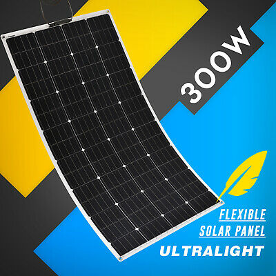 12V Flexible Solar Panel 300W Monocrystalline Caravan Camping Battery Charge