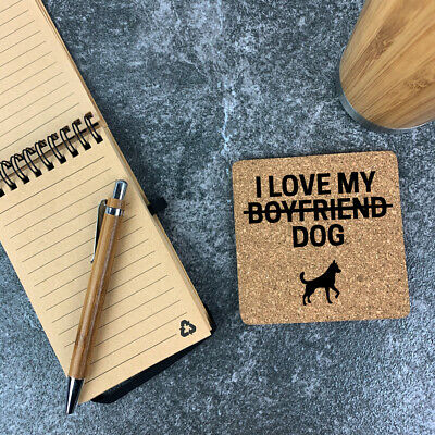 Personalised Cork Coaster Square Cat / Dog Lover Mother's Gift For Him / Her