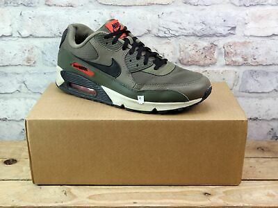 Mens Nike Air Max 90 Green Leather Mesh Active Trainers Uk Size 10 Repair Needed