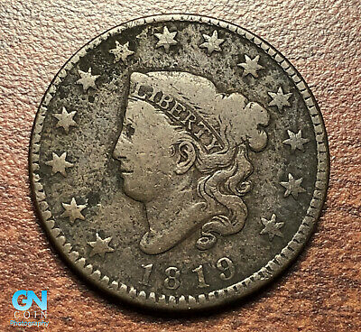 1819 Coronet Head Large Cent   --  MAKE US AN OFFER!  #P4802