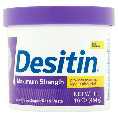 Desitin Maximum Strength Diaper Rash Paste, 16 oz (1lb) 40% Zinc Oxide 6/2021