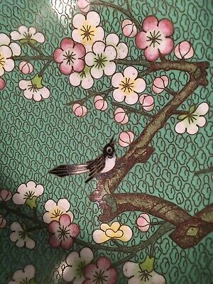 Vintage Chinese bronze Cloisonne Enamel 70's-90's Bird Beautiful