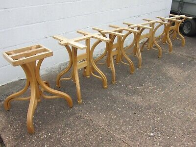 Restaurant table bases in wood / wooden dining table bases / wooden table bases