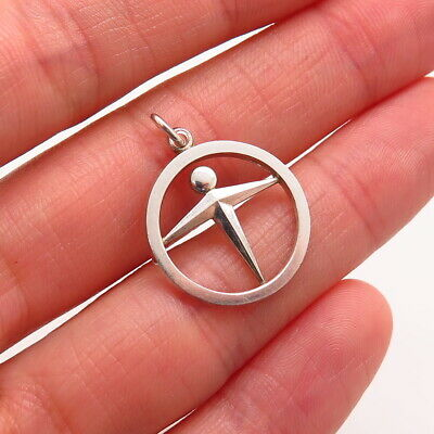Tiffany & Co. 925 Sterling Silver Designer Human Figure Circle Round Pendant