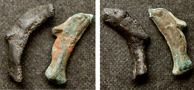 "THRACE / OLBIA - 2 DOLPHIN MONEY ""COINS"", c. 5th-4th Century BC"